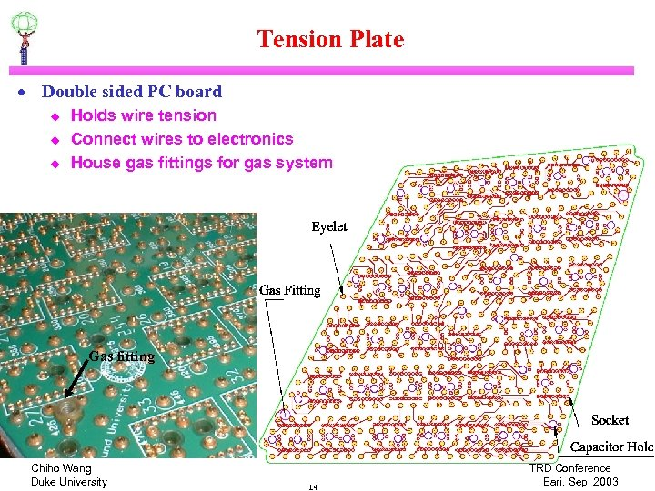 Tension Plate · Double sided PC board u u u Holds wire tension Connect