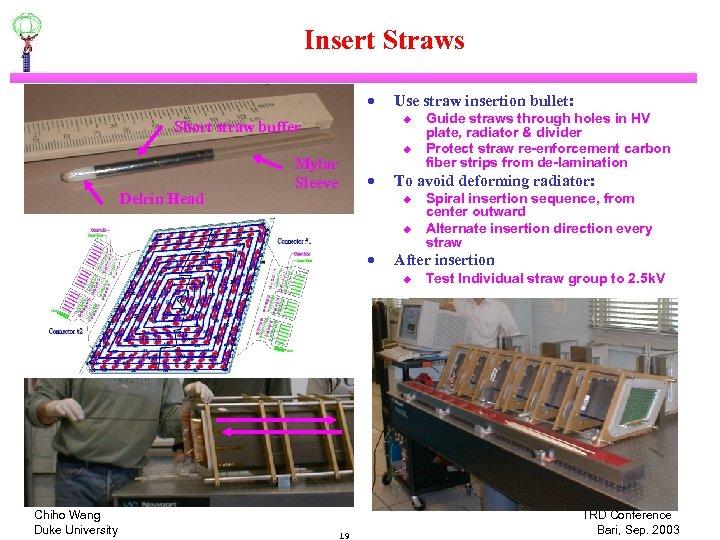 Insert Straws · u Short straw buffer Delrin Head Use straw insertion bullet: u