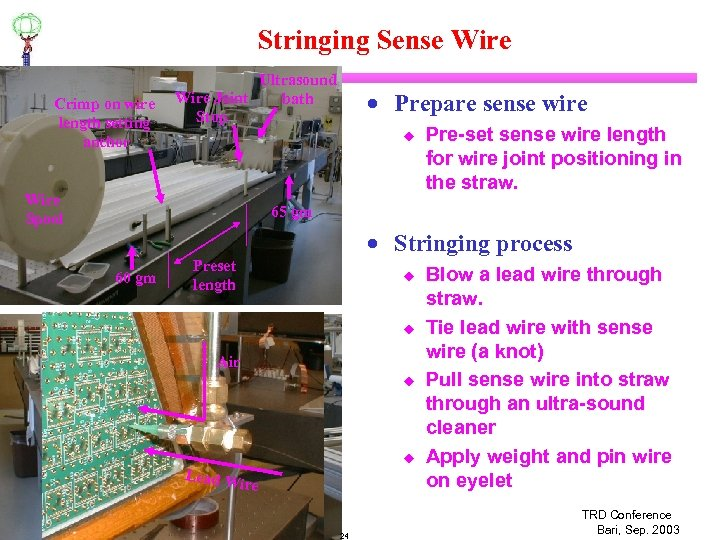 Stringing Sense Wire Crimp on wire length setting anchor Ultrasound Wire Joint bath Stop