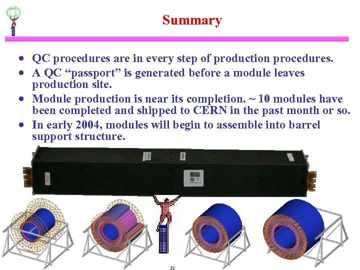 Summary · QC procedures are in every step of production procedures. · A QC