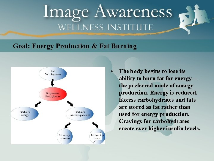 Goal: Energy Production & Fat Burning • The body begins to lose its ability