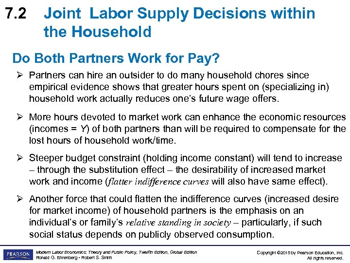 7. 2 Joint Labor Supply Decisions within the Household Do Both Partners Work for