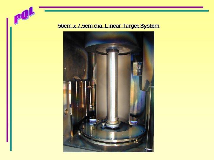 50 cm x 7. 5 cm dia. Linear Target System