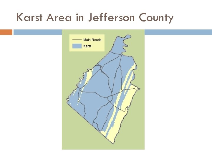 Karst Area in Jefferson County