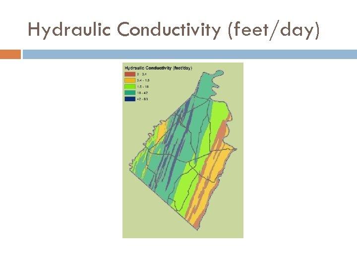 Hydraulic Conductivity (feet/day)