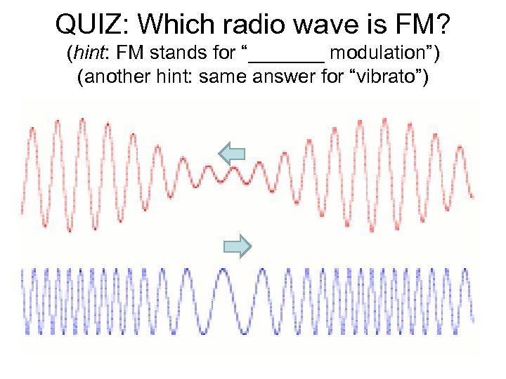 """QUIZ: Which radio wave is FM? (hint: FM stands for """"_______ modulation"""") (another hint:"""