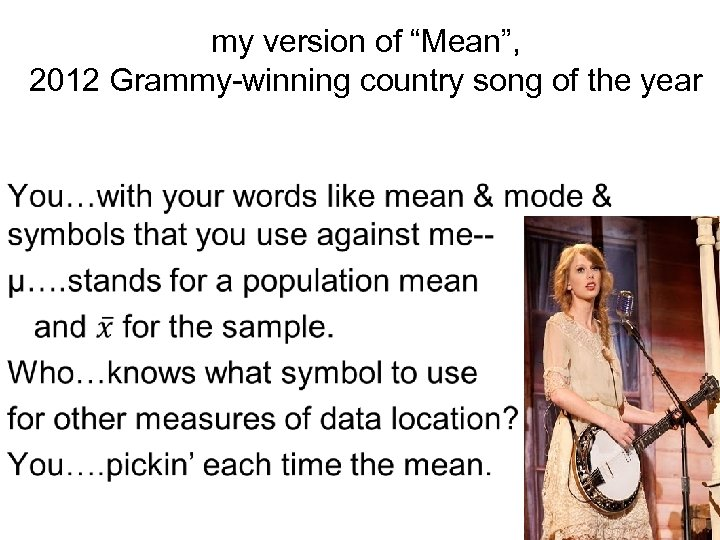 """my version of """"Mean"""", 2012 Grammy-winning country song of the year"""