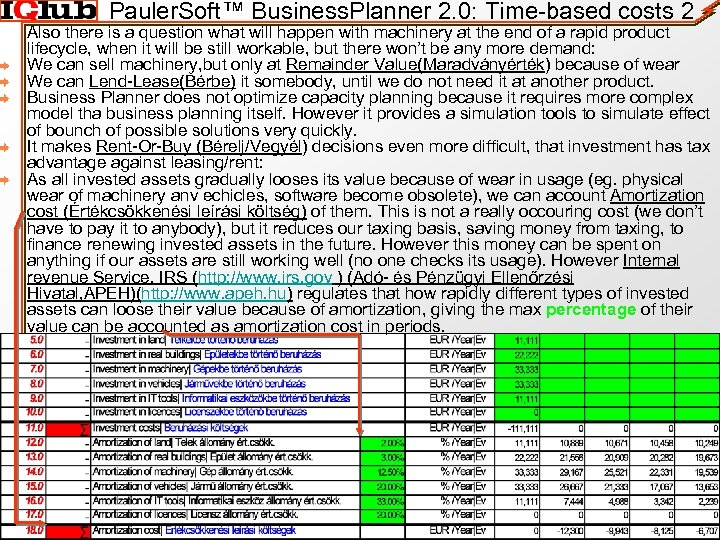 Pauler. Soft™ Business. Planner 2. 0: Time-based costs 2 Also there is a question
