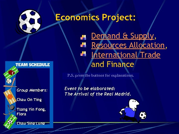 Economics Project: Demand & Supply, Resources Allocation, International Trade and Finance P. S. press