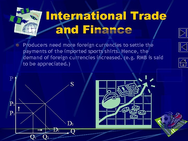 International Trade and Finance Producers need more foreign currencies to settle the payments of