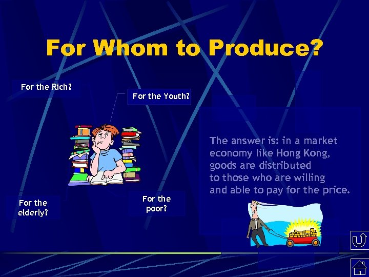 For Whom to Produce? For the Rich? For the elderly? For the Youth? For