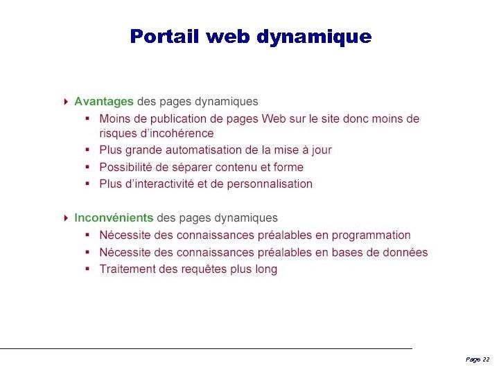 Portail web dynamique Page 22