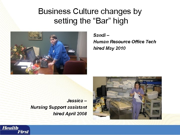 """Business Culture changes by setting the """"Bar"""" high Sandi – Human Resource Office Tech"""