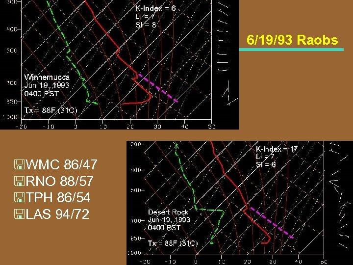 6/19/93 Raobs <WMC 86/47 <RNO 88/57 <TPH 86/54 <LAS 94/72