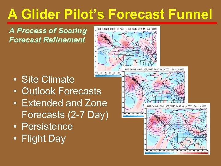A Glider Pilot's Forecast Funnel A Process of Soaring Forecast Refinement • Site Climate