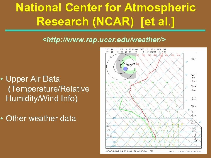 National Center for Atmospheric Research (NCAR) [et al. ] <http: //www. rap. ucar. edu/weather/>