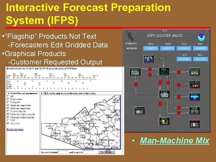 """Interactive Forecast Preparation System (IFPS) • """"Flagship"""" Products Not Text Forecasters Edit Gridded Data"""
