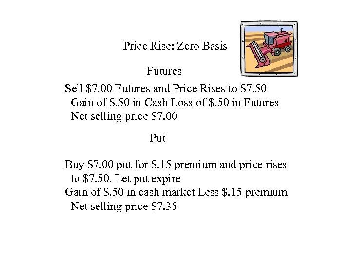 Price Rise: Zero Basis Futures Sell $7. 00 Futures and Price Rises to $7.