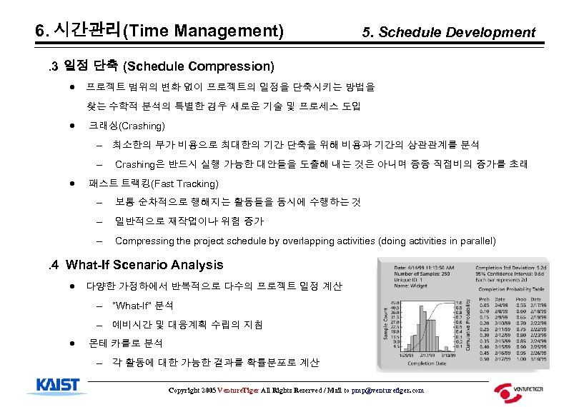 6. 시간관리(Time Management) 5. Schedule Development . 3 일정 단축 (Schedule Compression) · 프로젝트