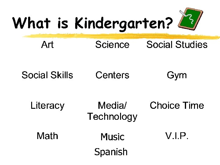 What is Kindergarten?