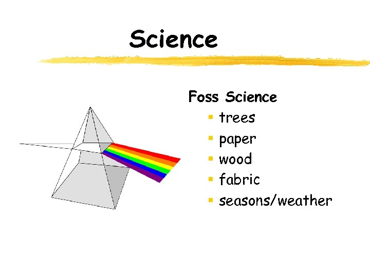 Science Foss Science § trees § paper § wood § fabric § seasons/weather