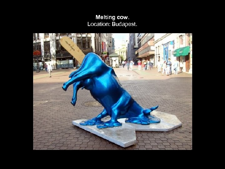 Melting cow. Location: Budapest.