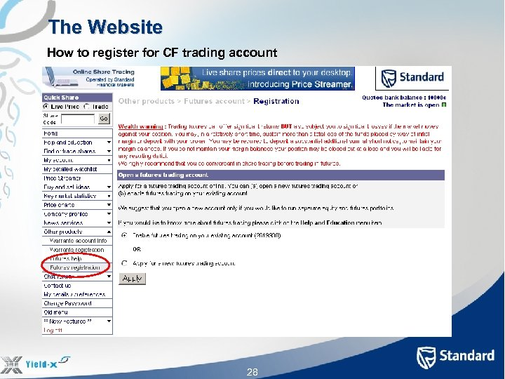 The Website How to register for CF trading account 28