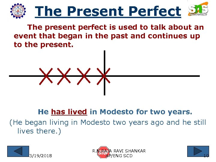 The Present Perfect The present perfect is used to talk about an event that