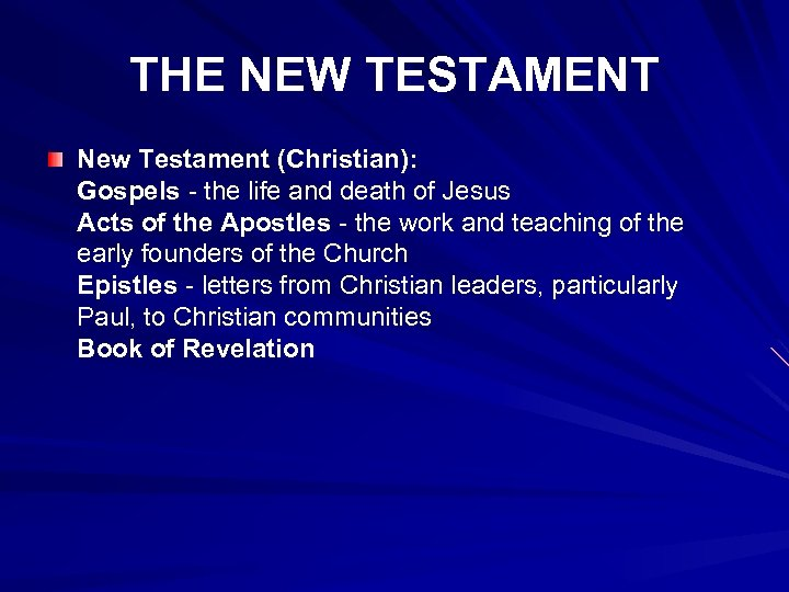 THE NEW TESTAMENT New Testament (Christian): Gospels - the life and death of Jesus
