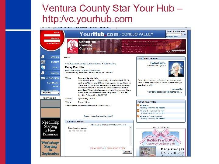 Ventura County Star Your Hub – http: /vc. yourhub. com
