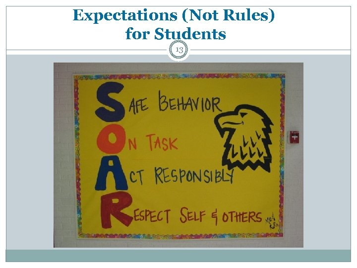 Expectations (Not Rules) for Students 13