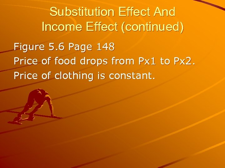 Substitution Effect And Income Effect (continued) Figure 5. 6 Page 148 Price of food