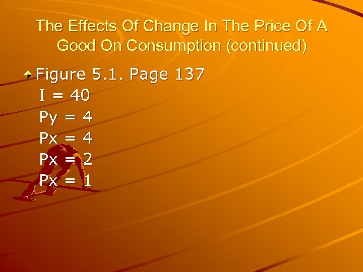 The Effects Of Change In The Price Of A Good On Consumption (continued) Figure
