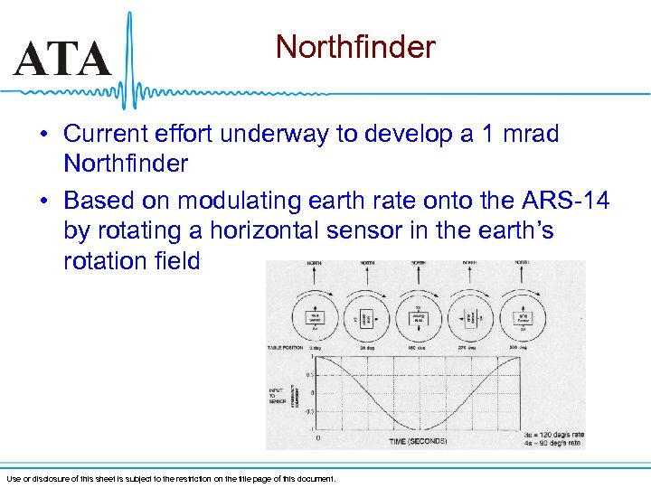 Northfinder • Current effort underway to develop a 1 mrad Northfinder • Based on