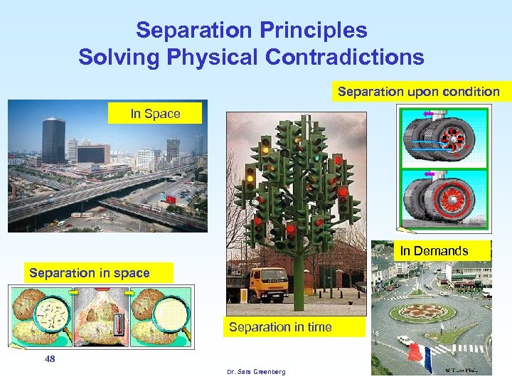 Separation Principles Solving Physical Contradictions Separation upon condition In Space In Demands Separation in