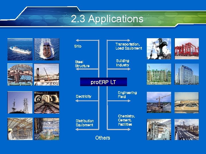 2. 3 Applications Ship Transportation, Load Equipment Steel Structure Building Industry pro. ERP LT