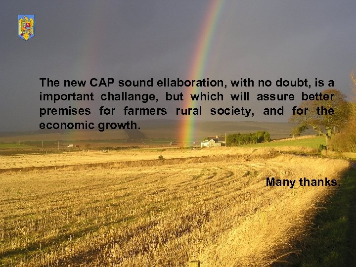 The new CAP sound ellaboration, with no doubt, is a important challange, but which