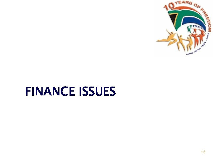 FINANCE ISSUES 16