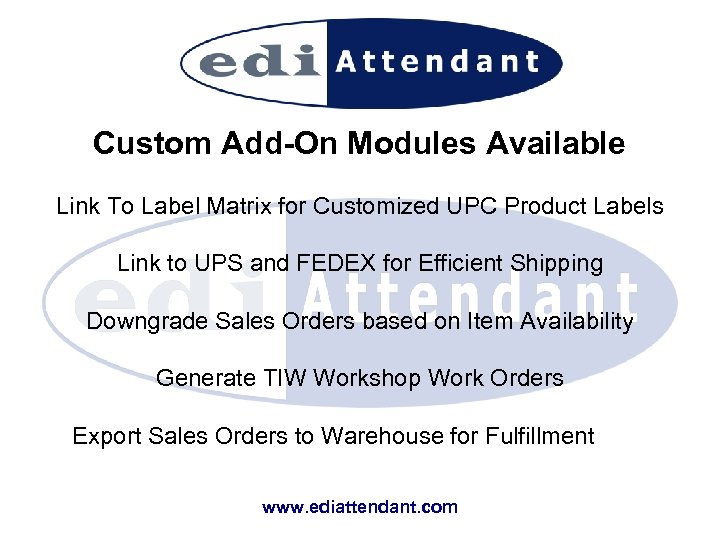 Custom Add-On Modules Available Link To Label Matrix for Customized UPC Product Labels Link