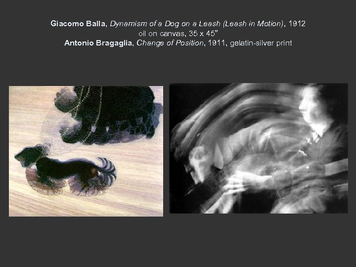 Giacomo Balla, Dynamism of a Dog on a Leash (Leash in Motion), 1912 oil