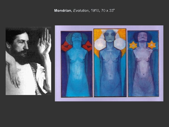 Mondrian, Evolution, 1910, 70 x 33""