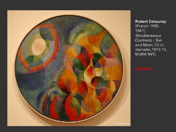 Robert Delaunay (French 18851941) Simultaneaous Contrasts : Sun and Moon, 53 in. diameter, 1912