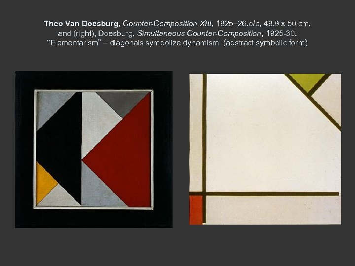 Theo Van Doesburg, Counter-Composition XIII, 1925– 26. o/c, 49. 9 x 50 cm, and