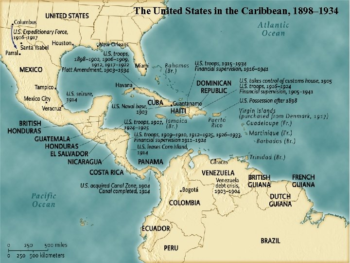 The United States in the Caribbean, 1898– 1934