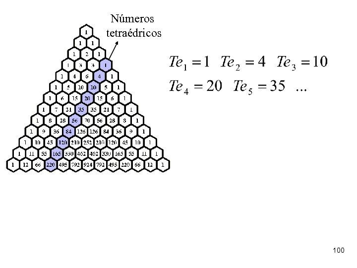 Números tetraédricos 100