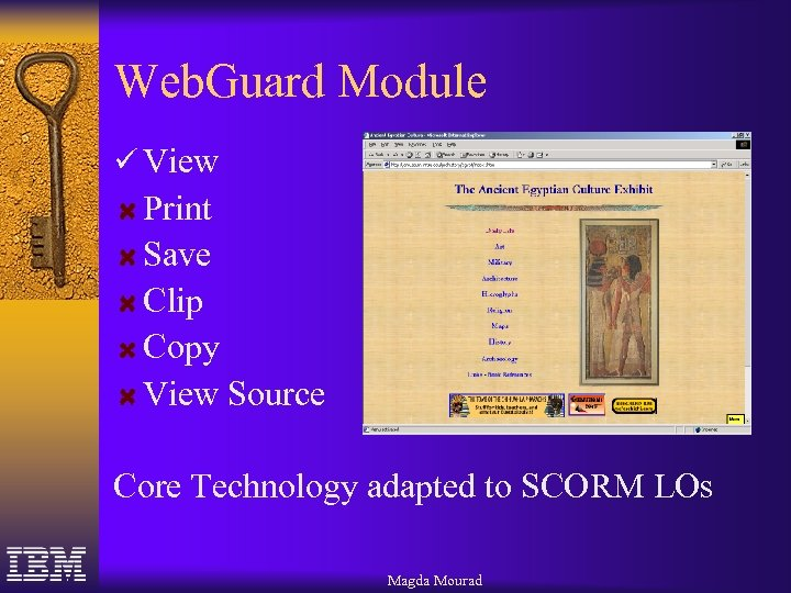 Web. Guard Module ü View Print Save Clip Copy View Source Core Technology adapted