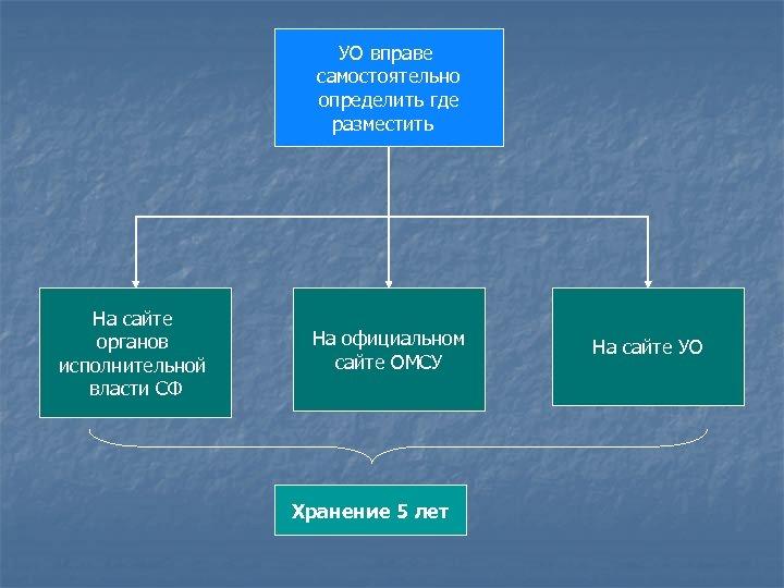 УО вправе самостоятельно определить где разместить На сайте органов исполнительной власти СФ На официальном