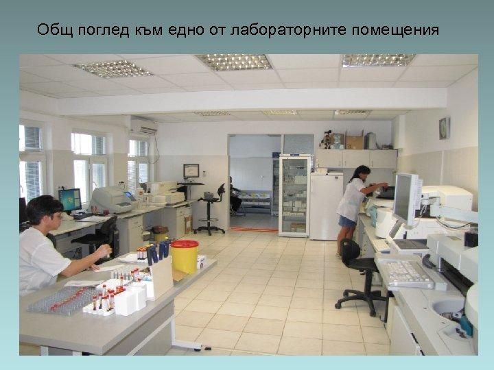 Общ поглед към едно от лабораторните помещения