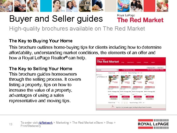 Buyer and Seller guides High-quality brochures available on The Red Market The Key to