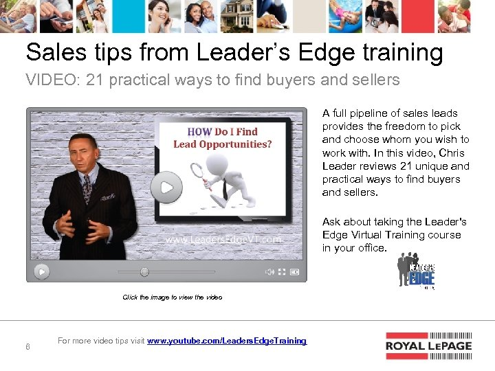Sales tips from Leader's Edge training VIDEO: 21 practical ways to find buyers and